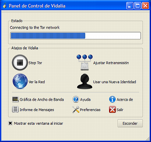 PortableTor - Interfaz
