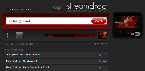 StreamDrag - Buscador/Reproductor on line