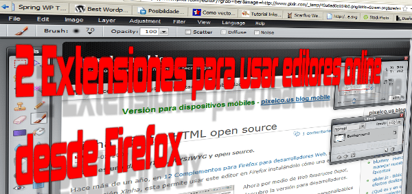 2 Extensiones editores online firefox