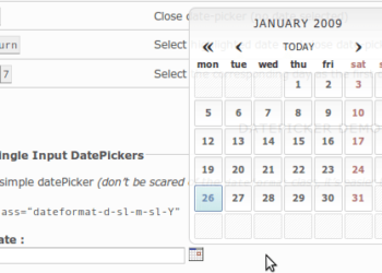 Date-picker no invasivo