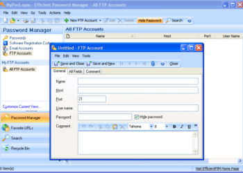 Effiicient Password Manager - Interfaz