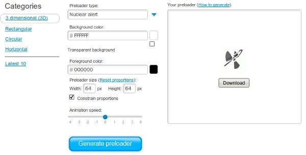 Preloaders - Interfaz