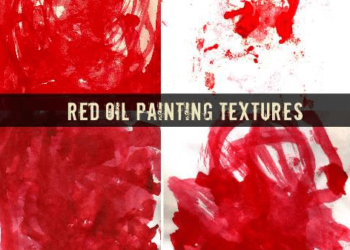 Red Oil Painting Textures
