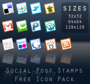 Social Post Stamps - Free icon pack