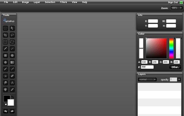 Splashup - Editor online