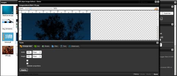 AIE Ajax Image Editor - Demo