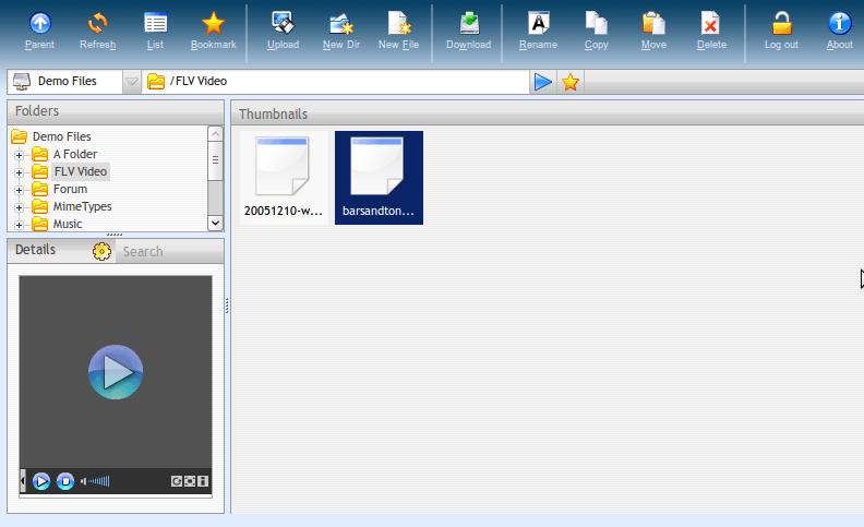 AjaXplorer - Interfaz