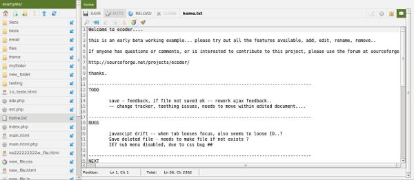 Ecoder - Interfaz Web