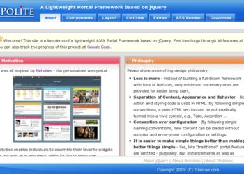 JPpolite framework - Interfaz