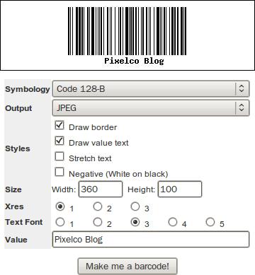 BarcodesInc - Generator | interfaz