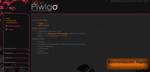 Piwigo - Panel de administración