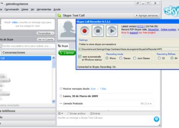 Skype Call Recorder - Interfaz