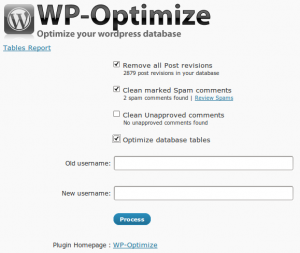 WP-Optimize - Opciones