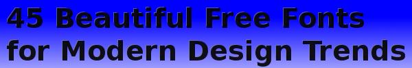 45-free-fonts