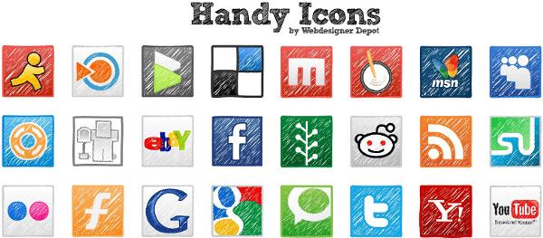 handy-icons 2 Colecciones de íconos a mano alzada