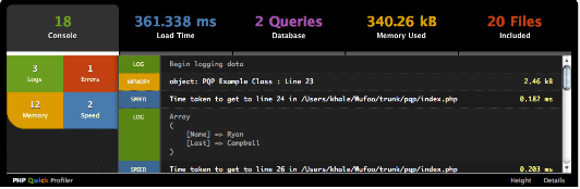 php-quick-profiler-interfaz