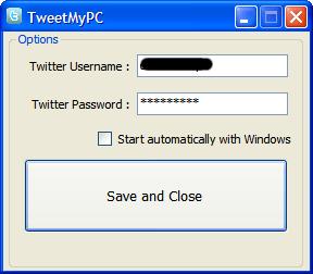 TweetMmyPC - Interfaz