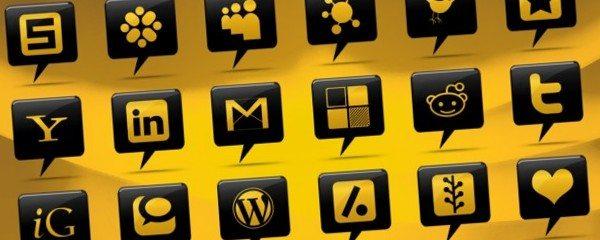 black-comment-bubble-social-media-icons