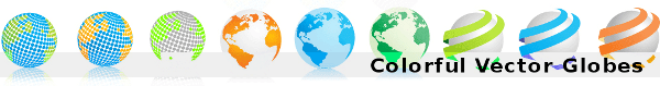 colorful-vector-globes