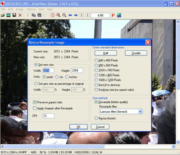 irfanview-interfaz 6 Programas gratis para optimizar y editar imágenes