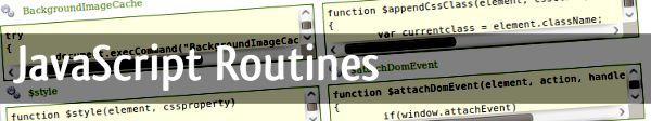 JavaScript-Routines