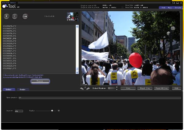 Digital Image Tool - Interfaz