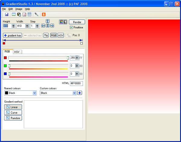 GradientStudio - Interfaz