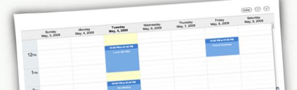 jQuery-Week-Calendar +9 Plugins jQuery para calendarios y selectores de fecha