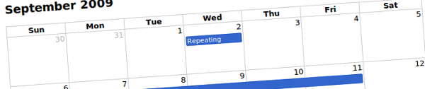 jquery-full-calendar +9 Plugins jQuery para calendarios y selectores de fecha