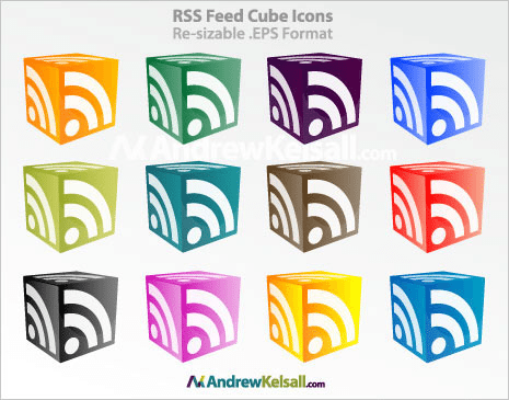 rss-feed-cube-icons