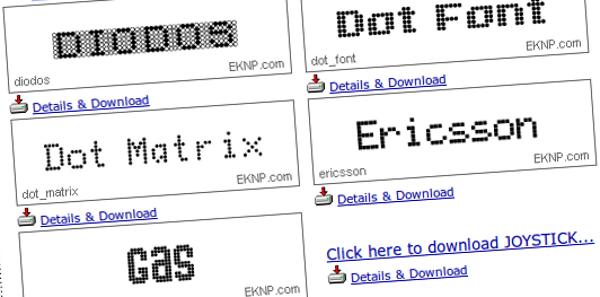 dot-fonts
