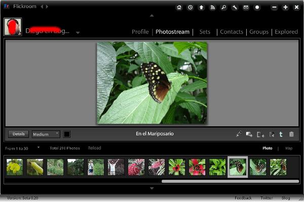 flickroom-interfaz