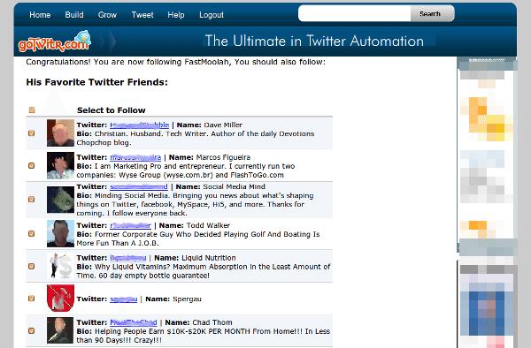 GoTwitter - Interfaz