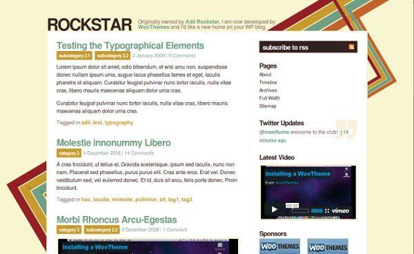 rockstar-wordpress-theme 13 Modernos templates para Wordpress gratis