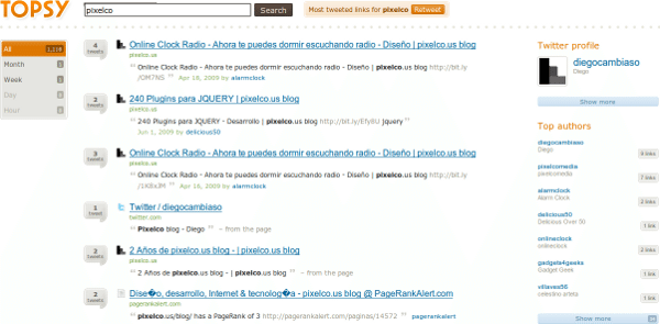 topsy-search-result