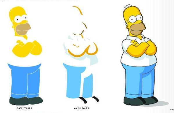 2 Homero Simpson Photoshop guia
