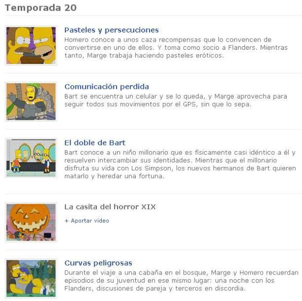 2 TV Simpson temporadas Los Simpsons