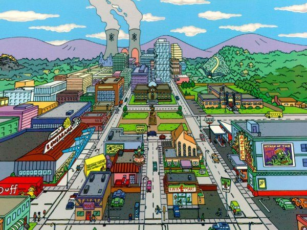 2 Google Earth Los Simpsons Springfield