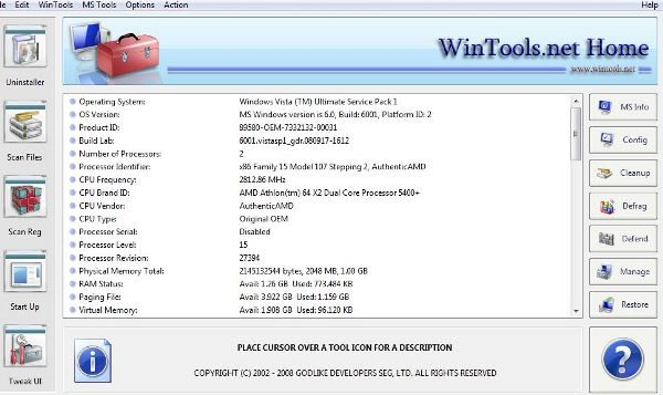 2 WinTools programa windows soluciones