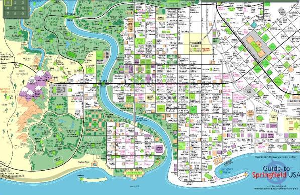 3 Google Earth Los Simpsons Springfield