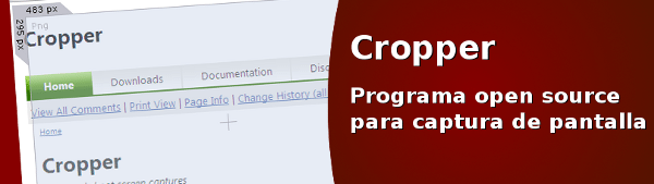 cropper Cropper - Potente programa open source para hacer capturas de pantalla