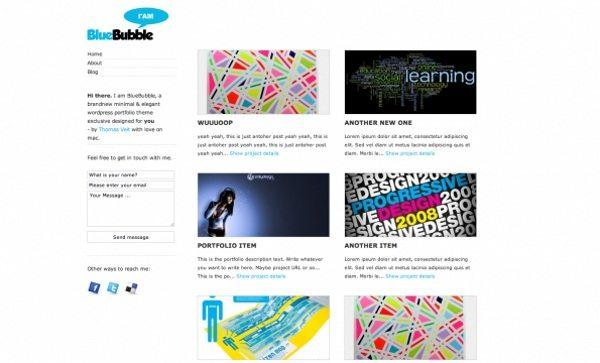 bluebublle-wordpress-theme 13 Themes gratis para Wordpress del 2010