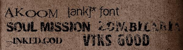 Tipografías grunge gratis