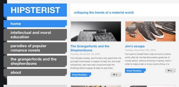 hipsterist-wordpress-theme 13 Themes gratis para Wordpress del 2010