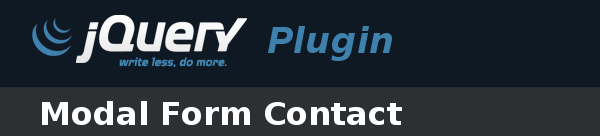 jQuery Plugin - Modal Form Contact