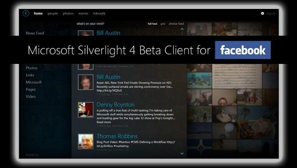 Microsoft Silverlight - Cliente para Facebook