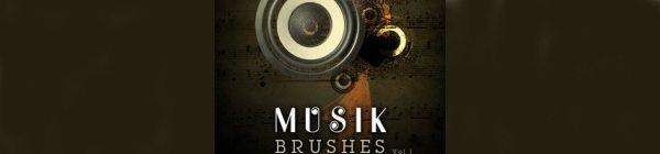 musik-brushes Recopilación de brushes musicales para Photoshop