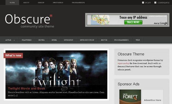 obscure-wordpress-theme 13 Themes gratis para Wordpress del 2010
