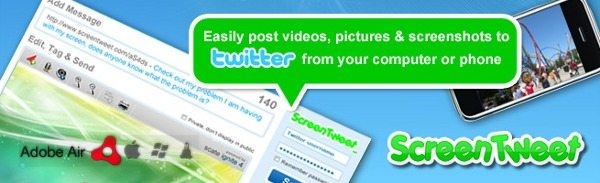 ScreenTweets - Publicar videos, fotos y capturas de pantalla en Twitter