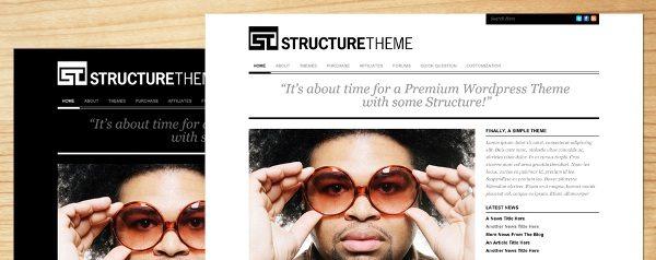 structure-wordpress-theme 13 Themes gratis para Wordpress del 2010